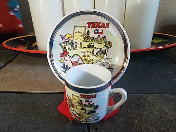 plate and cup with display stand
