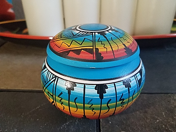 Native American Navajo Hand Painted Pillow Vase