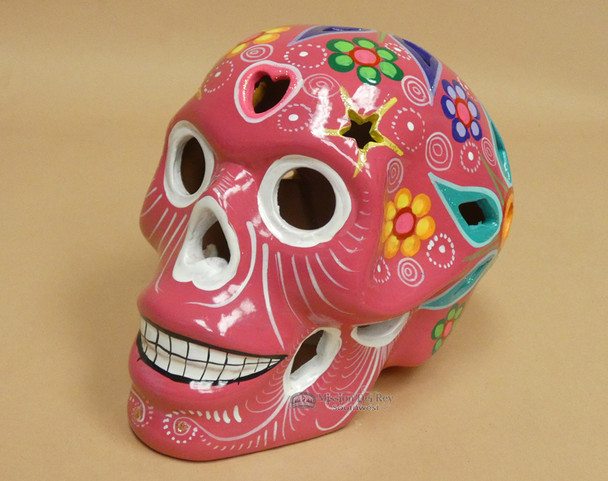 Mexican Day of the Dead Lantern Skull