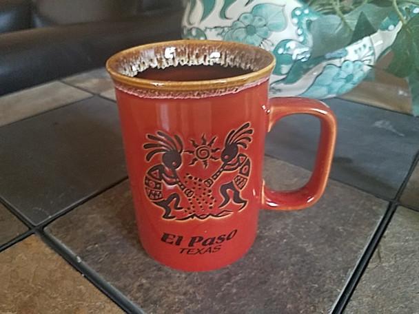 Kokopelli Drip Edge El Paso, TX Mug 16oz. -Red