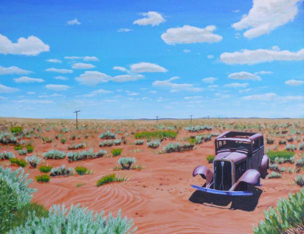 Original western art painting Print by artist Keith Skaggs