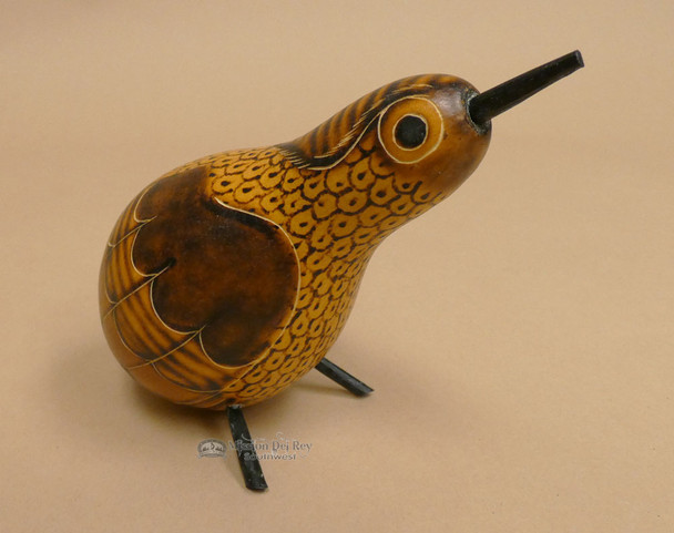 Small Andean Hand Carved Gourd Bird