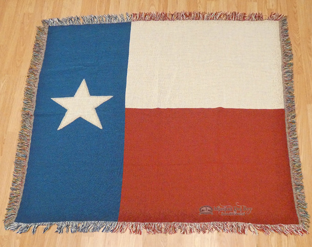 Soft Woven Texas Throw Blanket