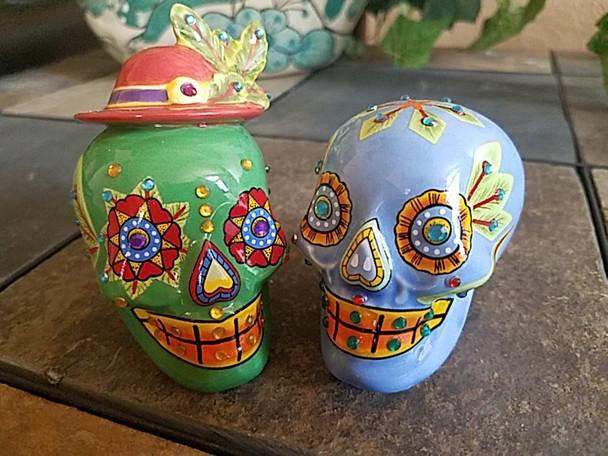Day of The Dead Salt & Pepper Shakers -Sugar Skulls