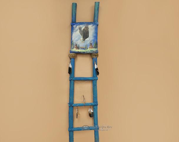 Tarahumara Painted Kiva Ladder -Soaring Eagle