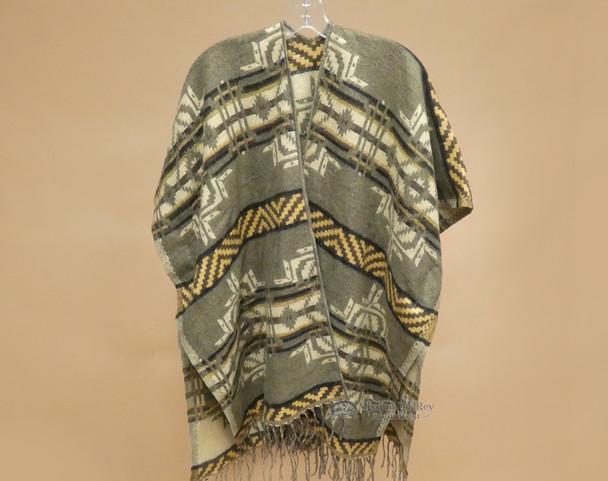 Woven Southwestern Style Ruana Cape
