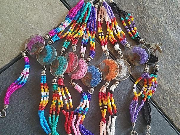 Bulk beaded tree of life bracelet in assorted colors