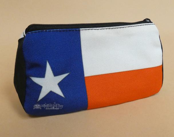 Digital Print Cosmetic Bag -Texas Flag
