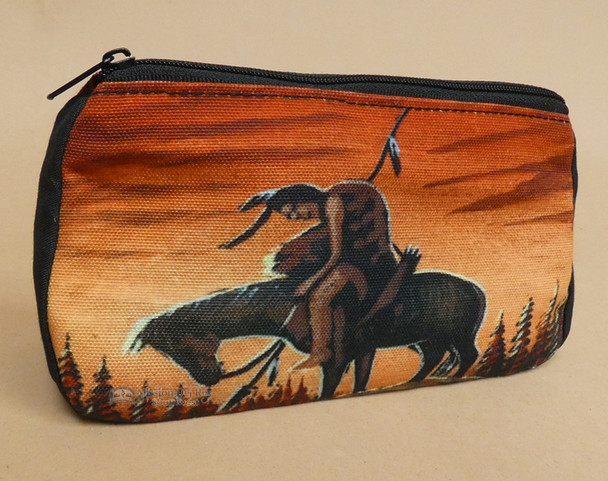 Southwestern Printed Cosmetic Bag -End of Trail