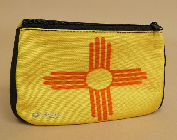 Digital Print Cosmetic Bag -New Mexico Flag