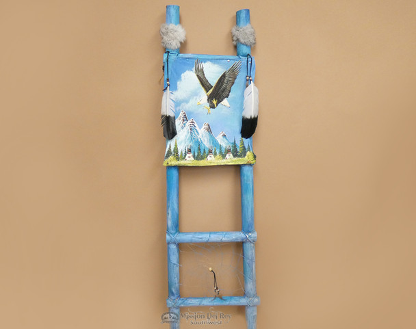 Tarahumara Hand Painted Dreamcatcher Ladder