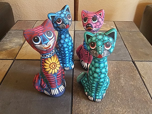 Bulk -Hand Painted Day of the Dead Cats
