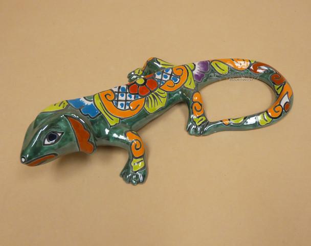Hand Painted Talavera Iguana