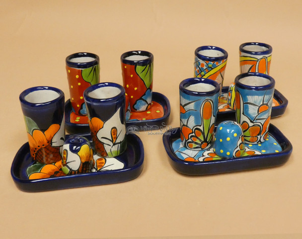 Hand Painted Talavera Tequila Set