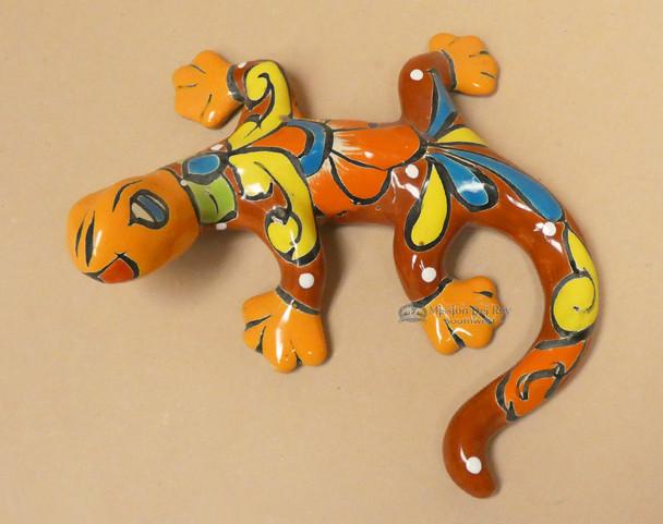 Hand Painted Mexican Talavera Lizard