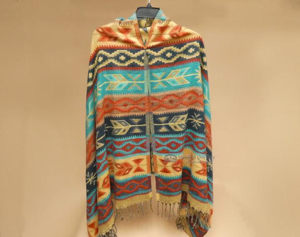 Colorful Southwestern Woven Shawl