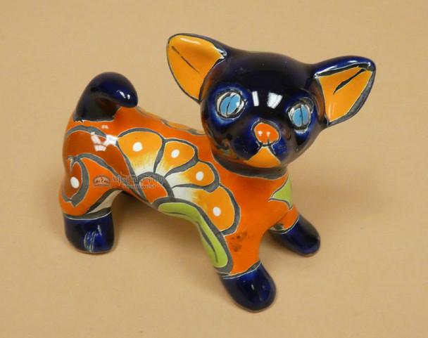 Hand Painted Mexican Talavera Chihuahua