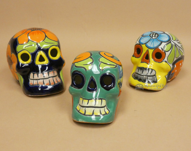 Assorted Hand Painted Mexican Day of the Dead Sugar Skulls