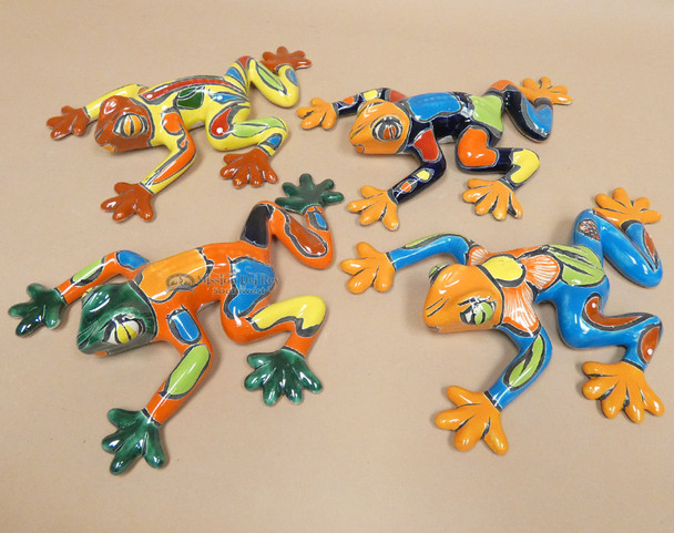 Hand Painted Talavera Frogs