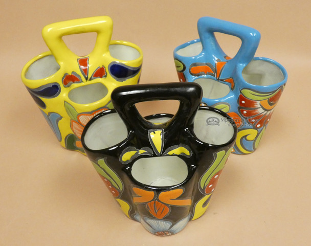 Hand Painted Talavera Utensil Holders