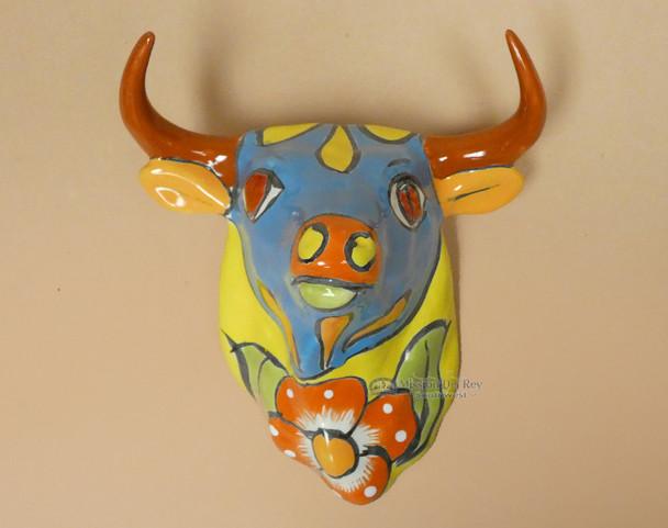 Hand Painted Talavera Bull
