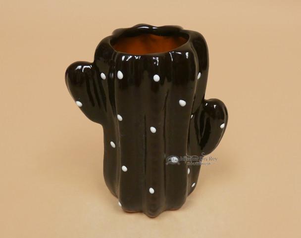 Mexican Talavera Cactus Cup -Brown