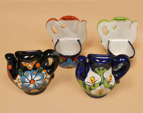 Assorted Hand Painted Talavera Oil Bottle Holders