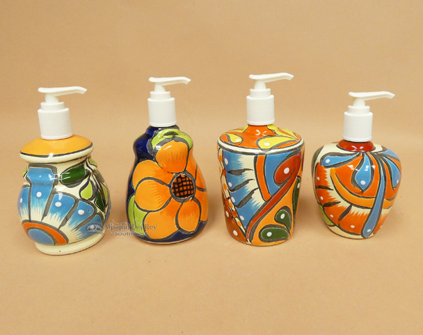 Hand Painted Talavera Soap Dispensers