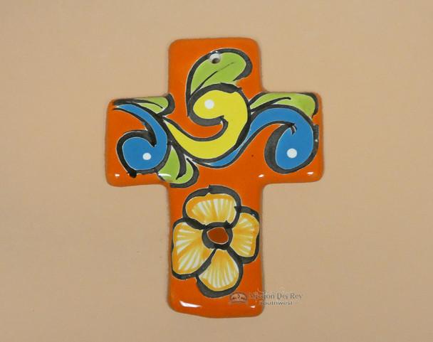 Hand Painted Talavera Wall Cross