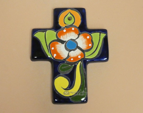 Hand Painted Talavera Wall Cross