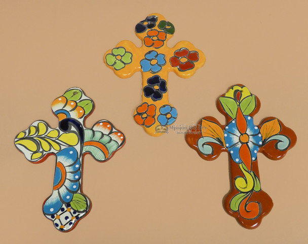 Assorted Hand Painted Talavera Wall Crosses
