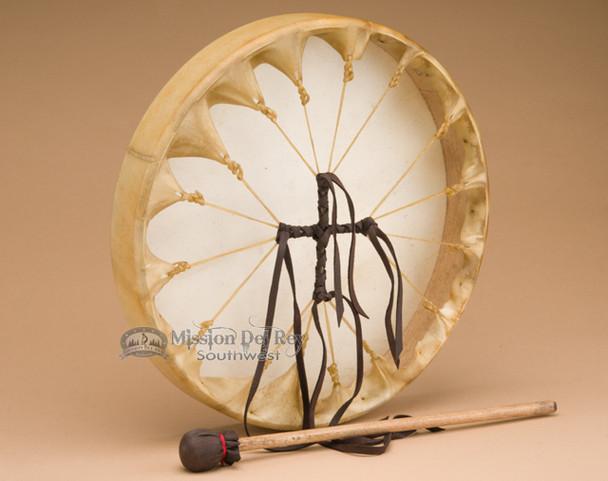 """Deer Hide Drum Lacing - 16"""" shown"""