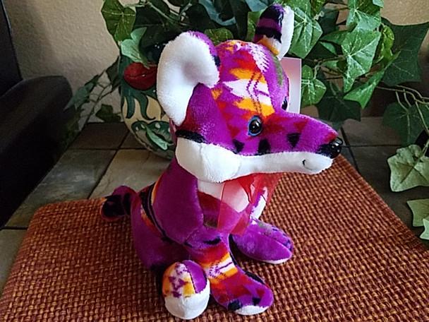 "Southwestern Stuffed Animal 10"" -Purple Fox"