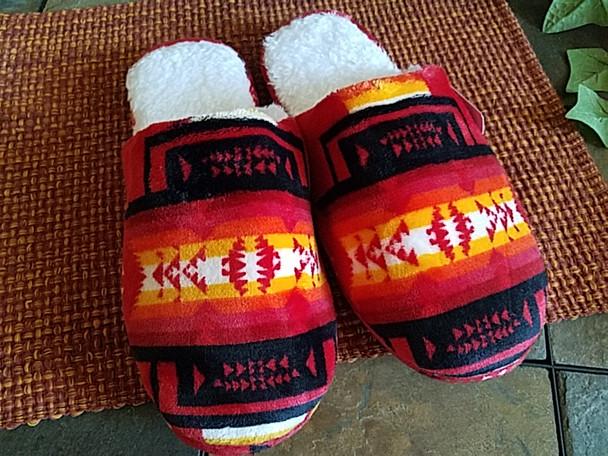 Southwestern Plush Slippers