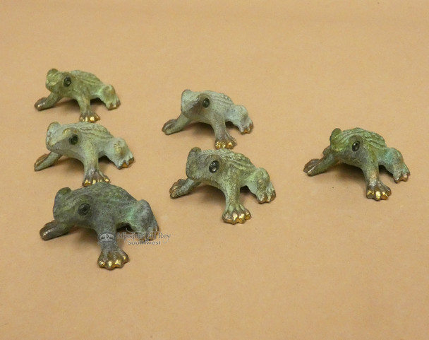 Assorted Hand Finished Brass Frogs