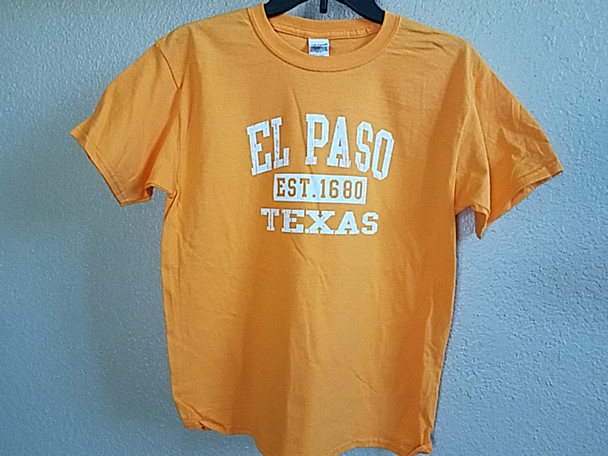Premium Kids Size El Paso T Shirt -Orange