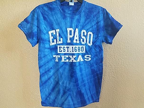 El Paso Tie Dye T Shirt -Royal Blue