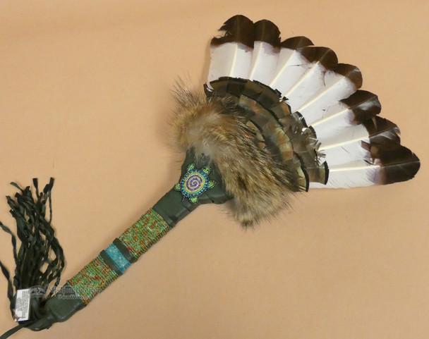 Native American Beaded Dance Fan