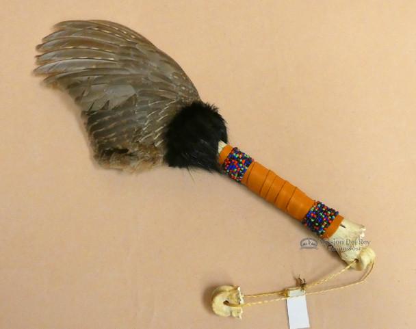 Deer Bone Handled  Pheasant Smudging Fan