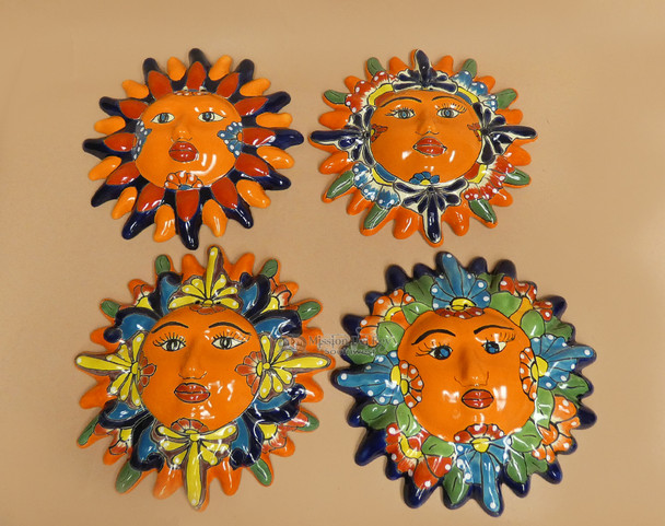 Hand Painted Mexican Talavera Sun