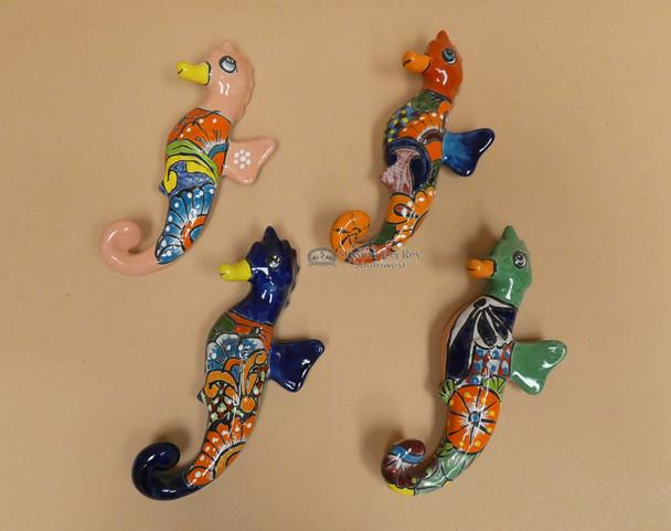Assorted Hand Painted Talavera Seahorse