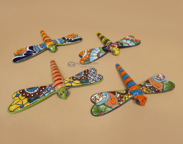 Assorted Hand Painted Talavera Dragonfly
