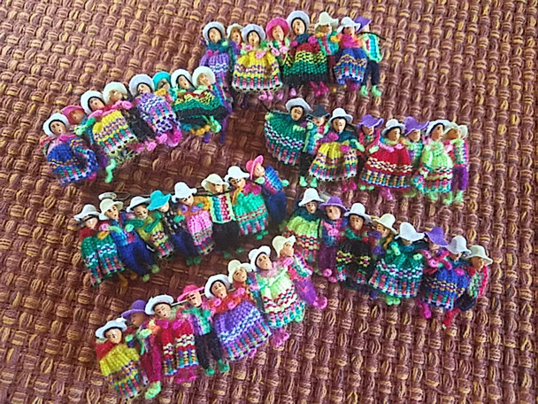 Bulk Worry Doll Hair Clip Barrettes, assorted colors