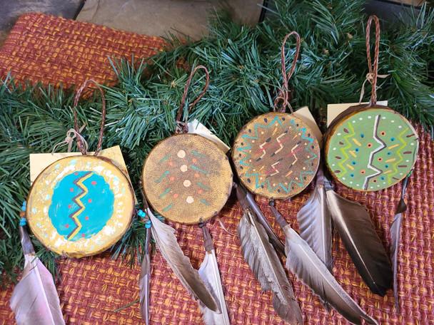 4 Piece Ornament Set - Painted Drums