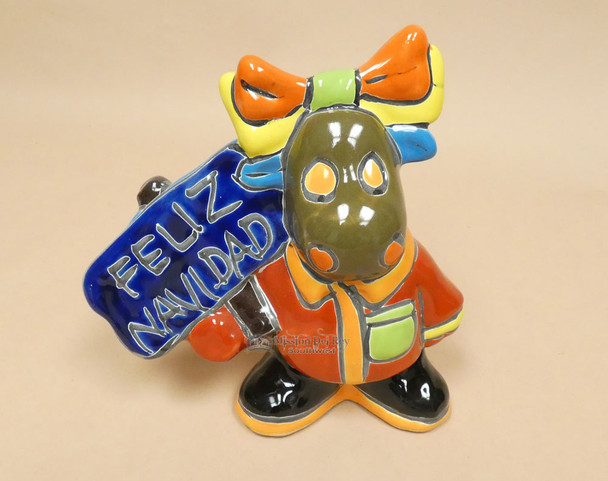 Hand Painted Talavera Moose