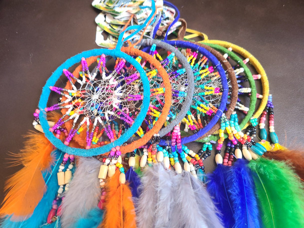 Assorted Spirit of Nature Seed Bead Dream Catchers