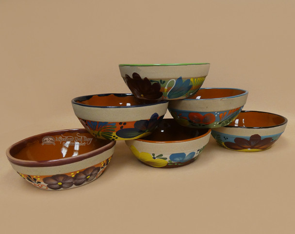 Assorted Hand Painted Clay Bowls