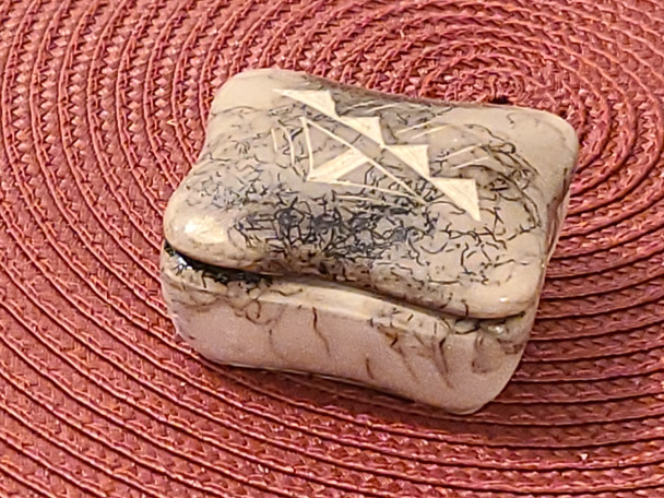 Navajo Horsehair Etched Pottery box