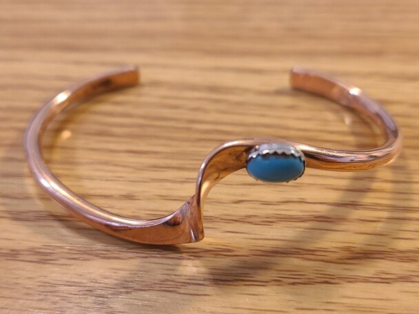 Navajo Indian Twisted Copper Cuff Bracelet