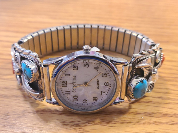 Southwest Navajo Silver Watch Tips